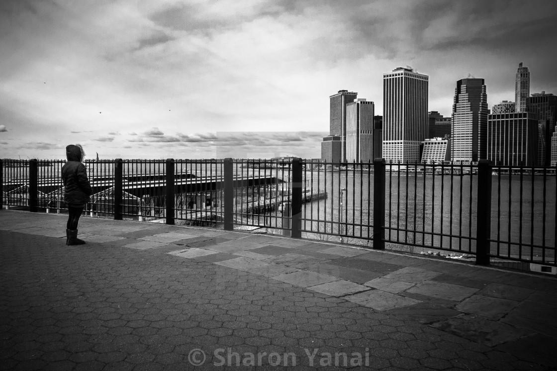"""Alone in Manhattan"" stock image"