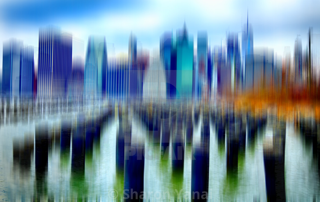 """Manhattan view from Brooklyn"" stock image"