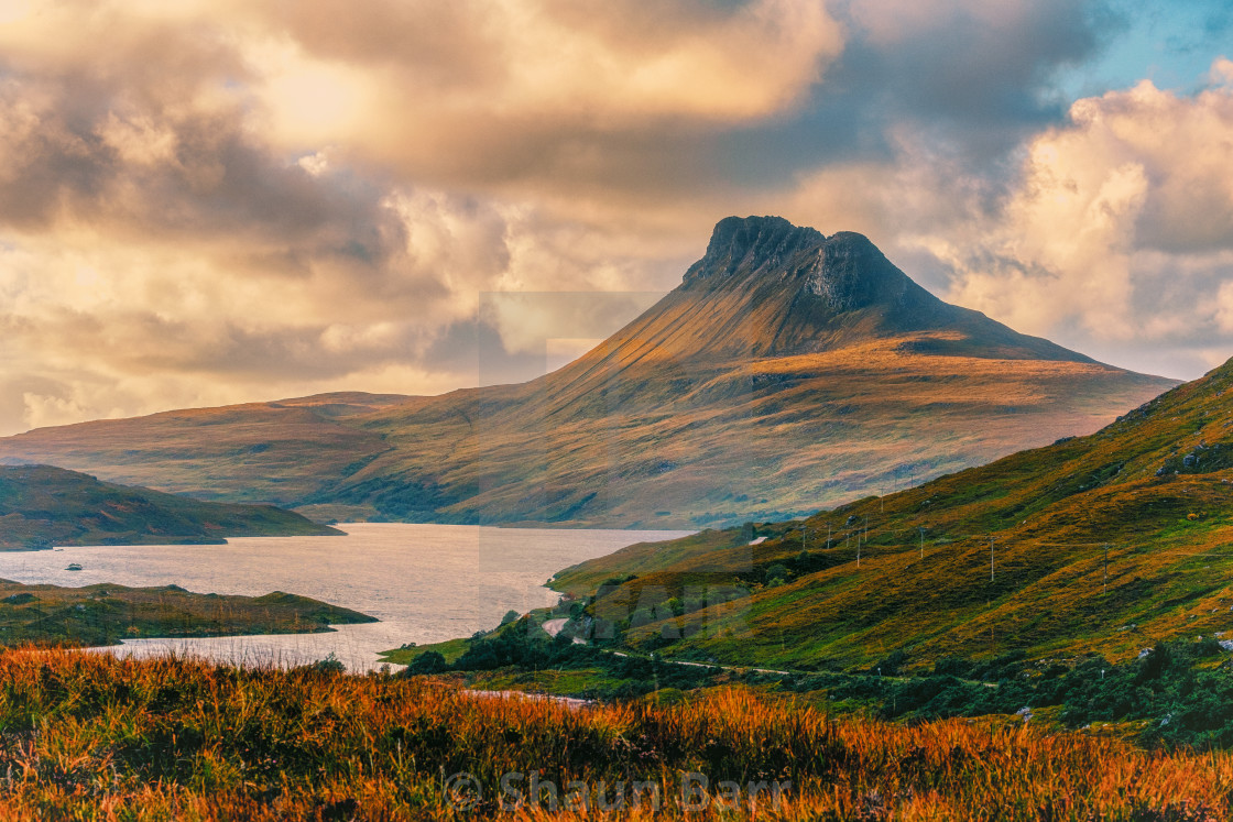 """Stac Pollaidh"" stock image"