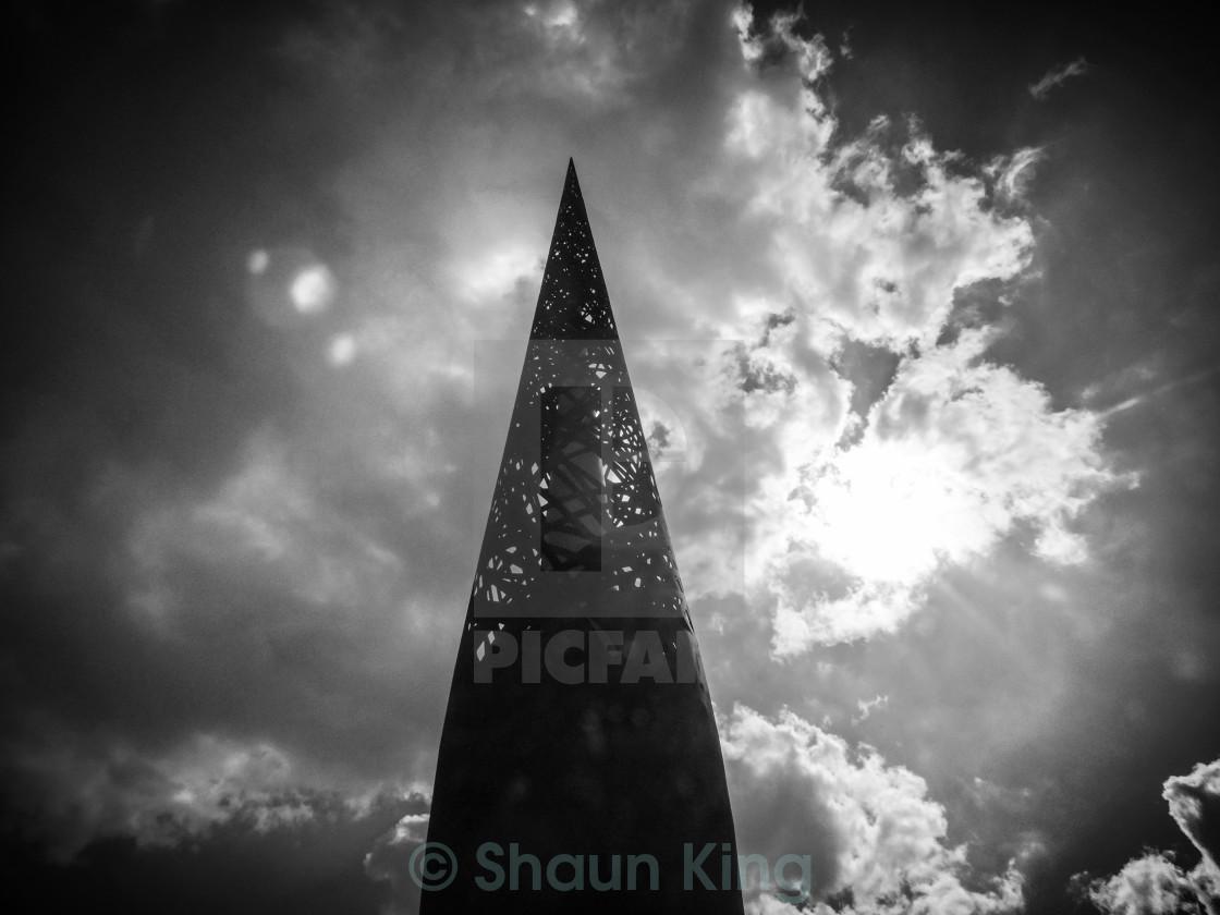 """Metal tower at Gloucester Docks"" stock image"