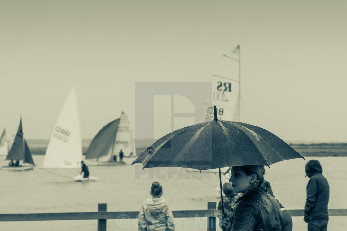 """Wet Summers Day"" stock image"