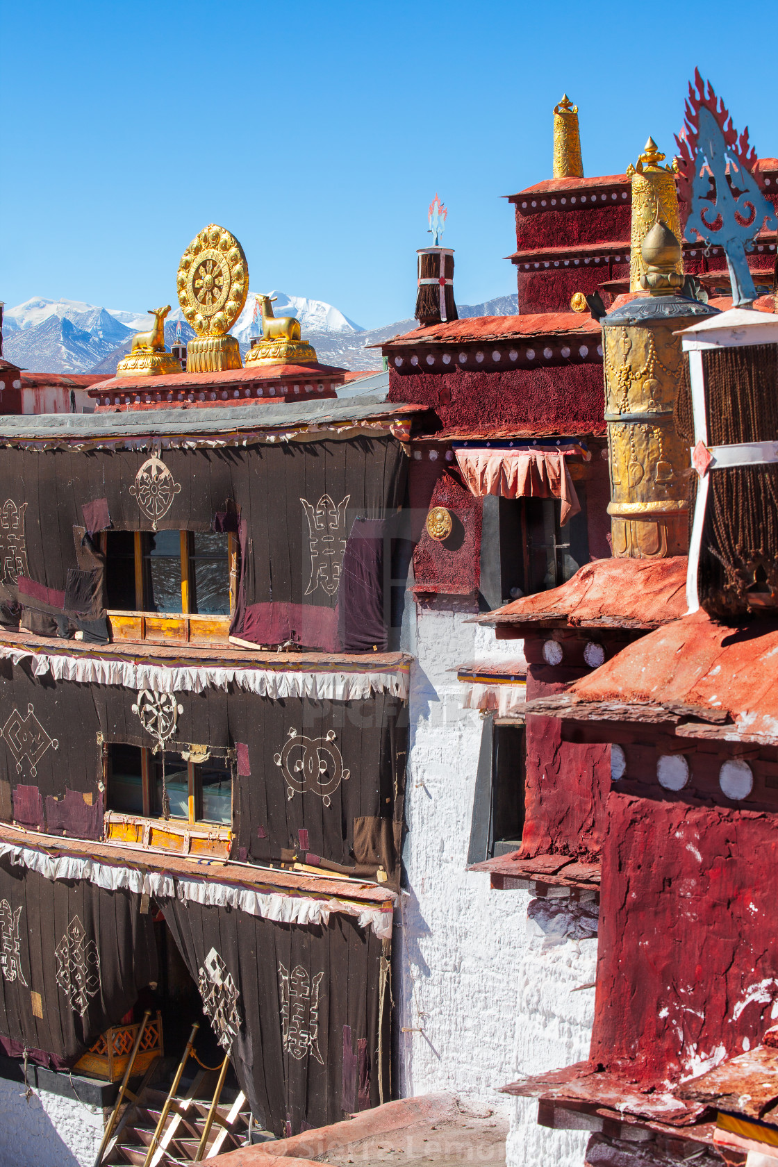 """Samding Monastery, Yamdrok Lake, Tibet, China"" stock image"