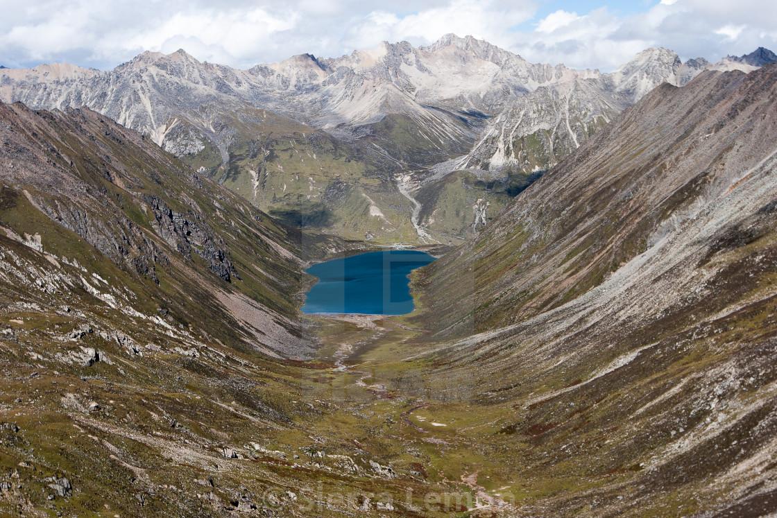 """A Rare View of Forbidden Lhamo Latso Lake, Tibet"" stock image"