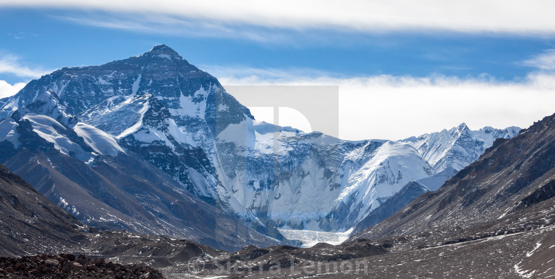 """Mount Everest North Face"" stock image"