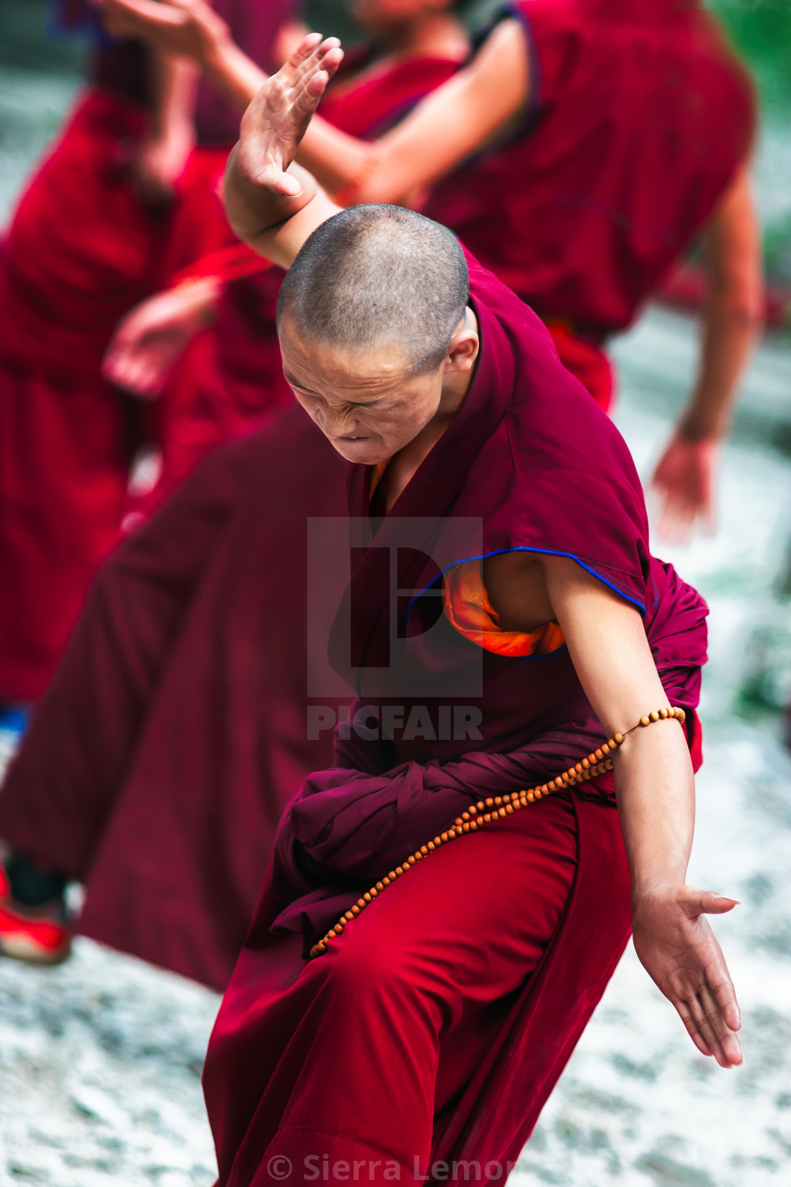 """Buddhist Debate"" stock image"
