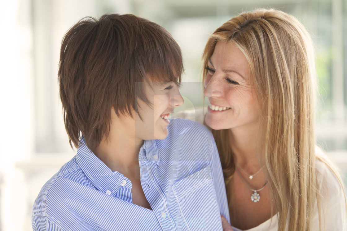 """Happy mother and son"" stock image"