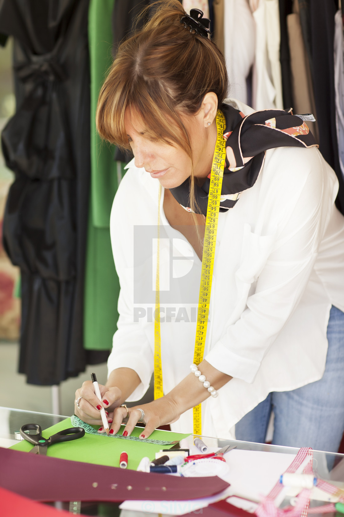 """Female tailor"" stock image"