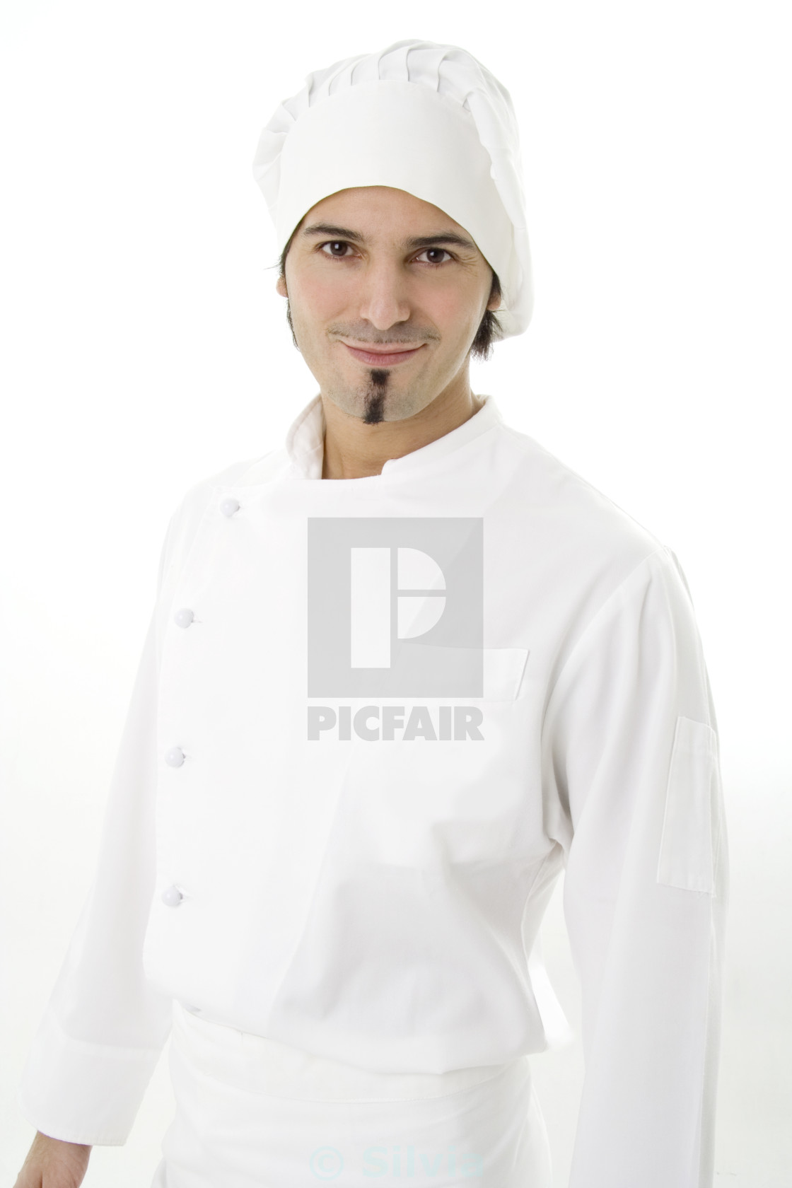 """Young cook isolated on white"" stock image"