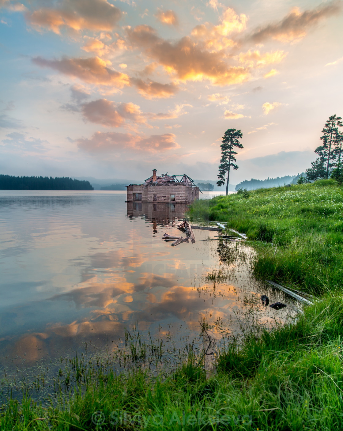 """House in the water"" stock image"