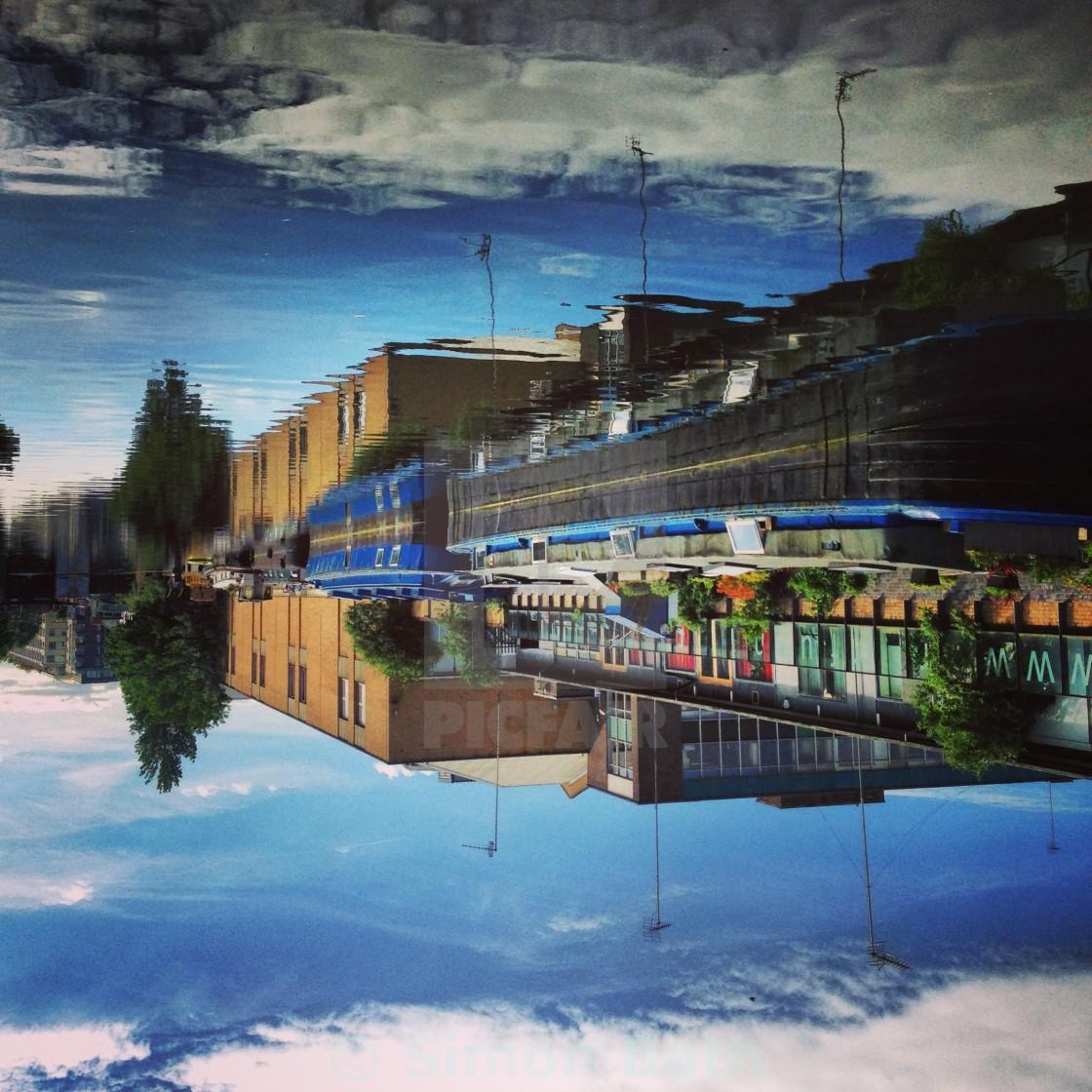 """Upsidedown Canal"" stock image"