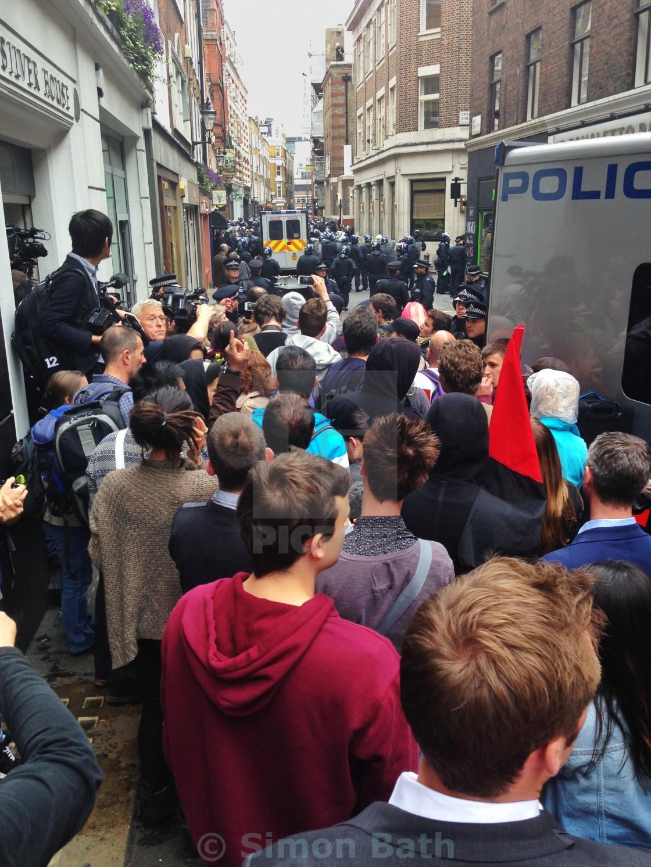 """Beak Street Protest"" stock image"