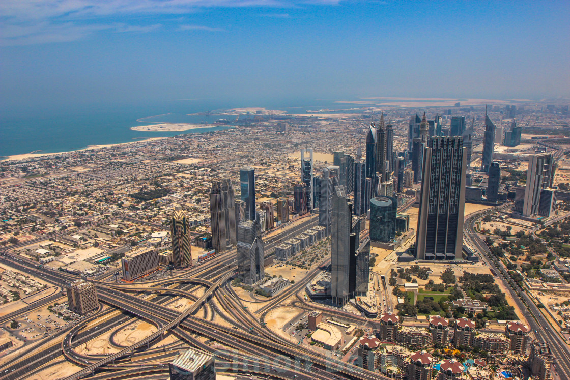 """View from Burj Khalifa"" stock image"