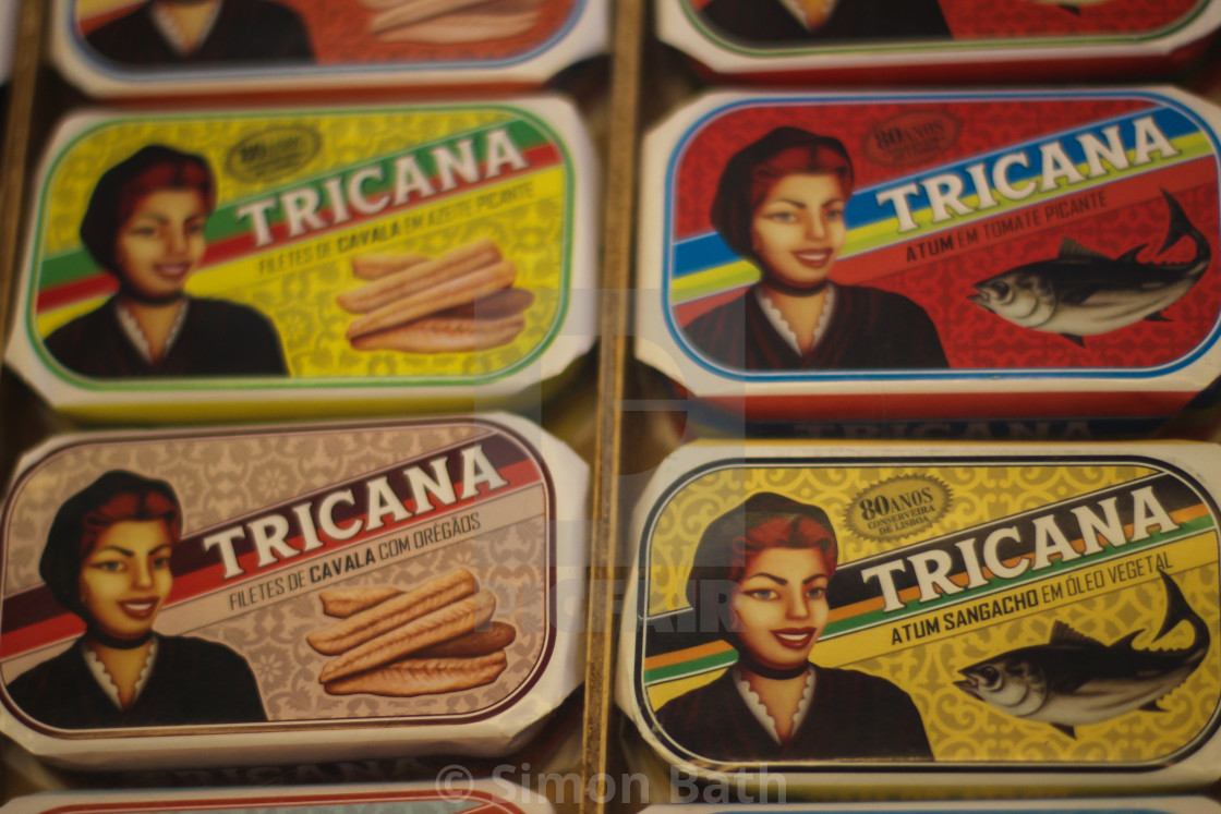 """Cans of Sardines"" stock image"