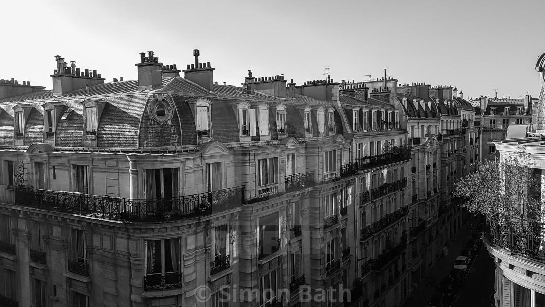 """Paris Rooftops"" stock image"