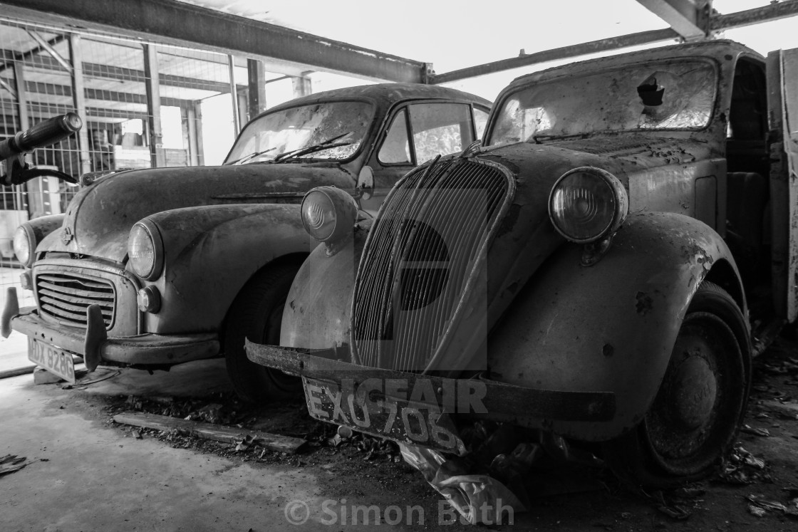 """Abandoned Cars"" stock image"