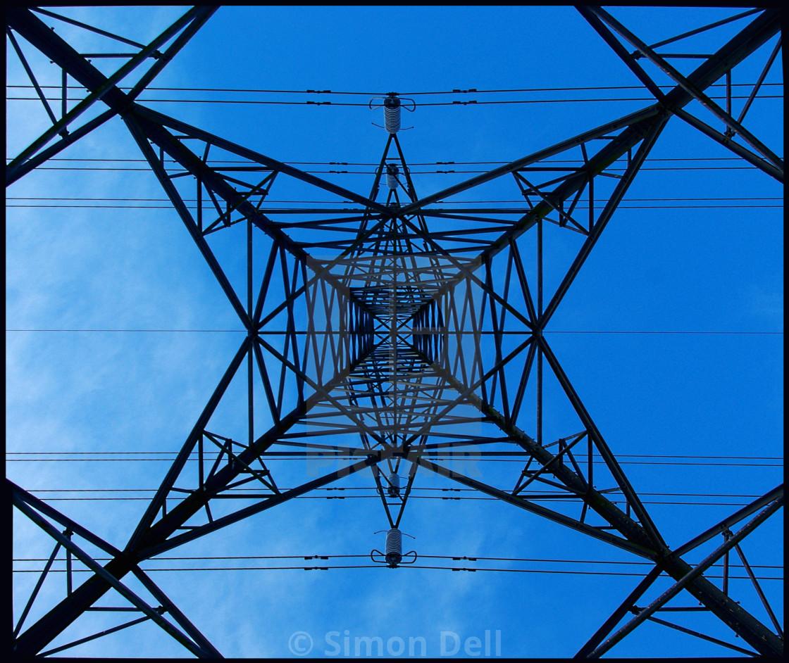 """pylon looking upwards"" stock image"