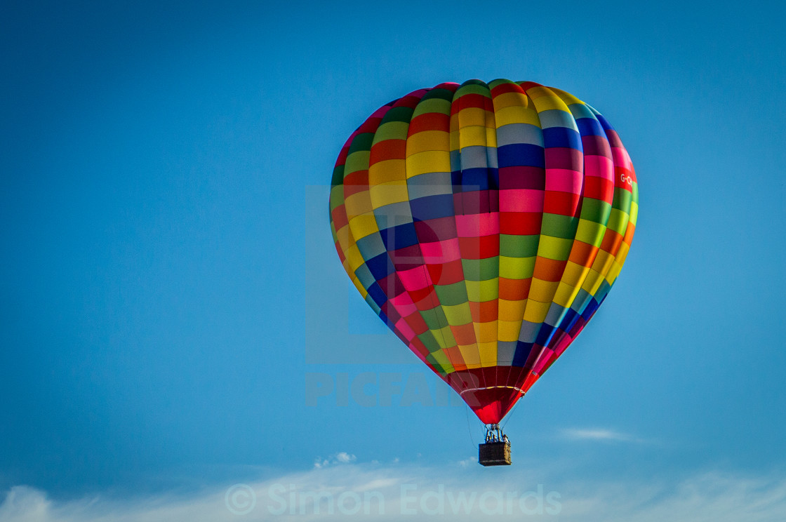 """Hot Air Ballon Over Bristol"" stock image"