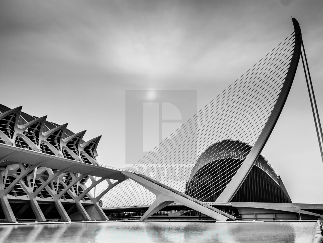 """City of Arts and Sciences"" stock image"