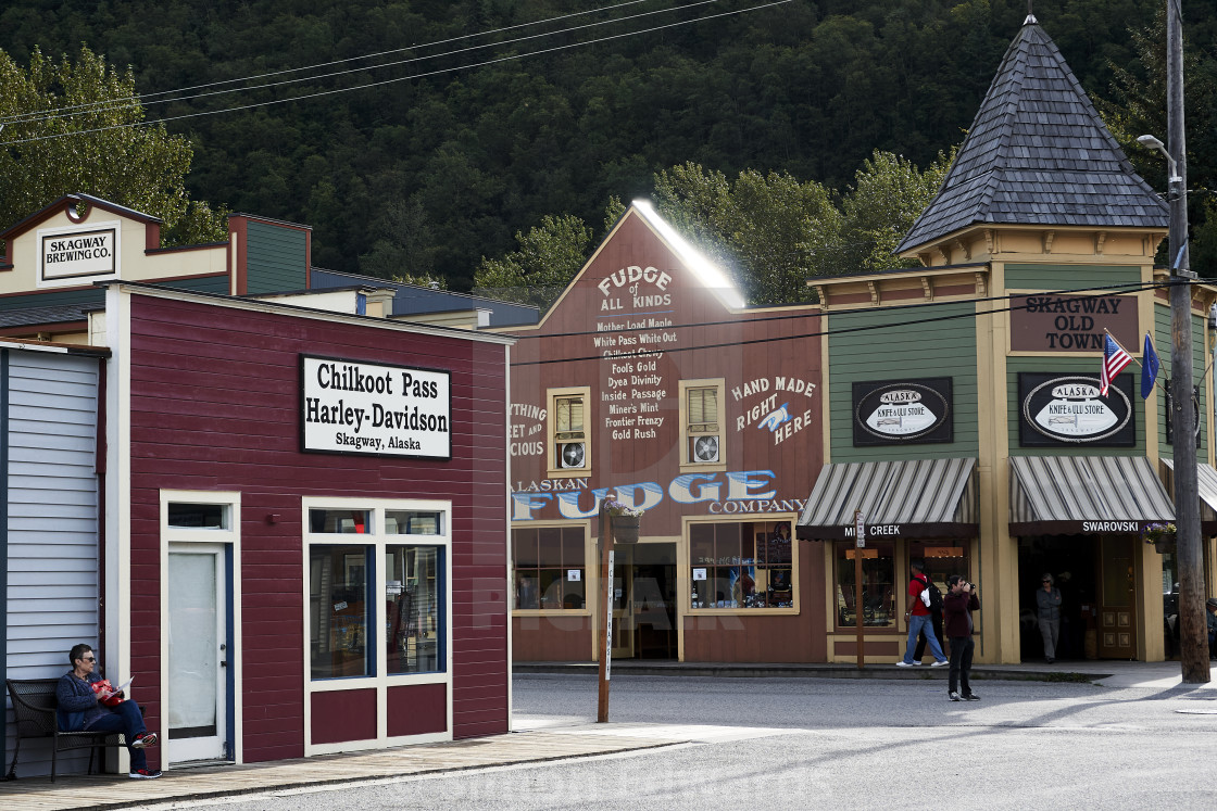 """Historic Buildings, Skagway"" stock image"