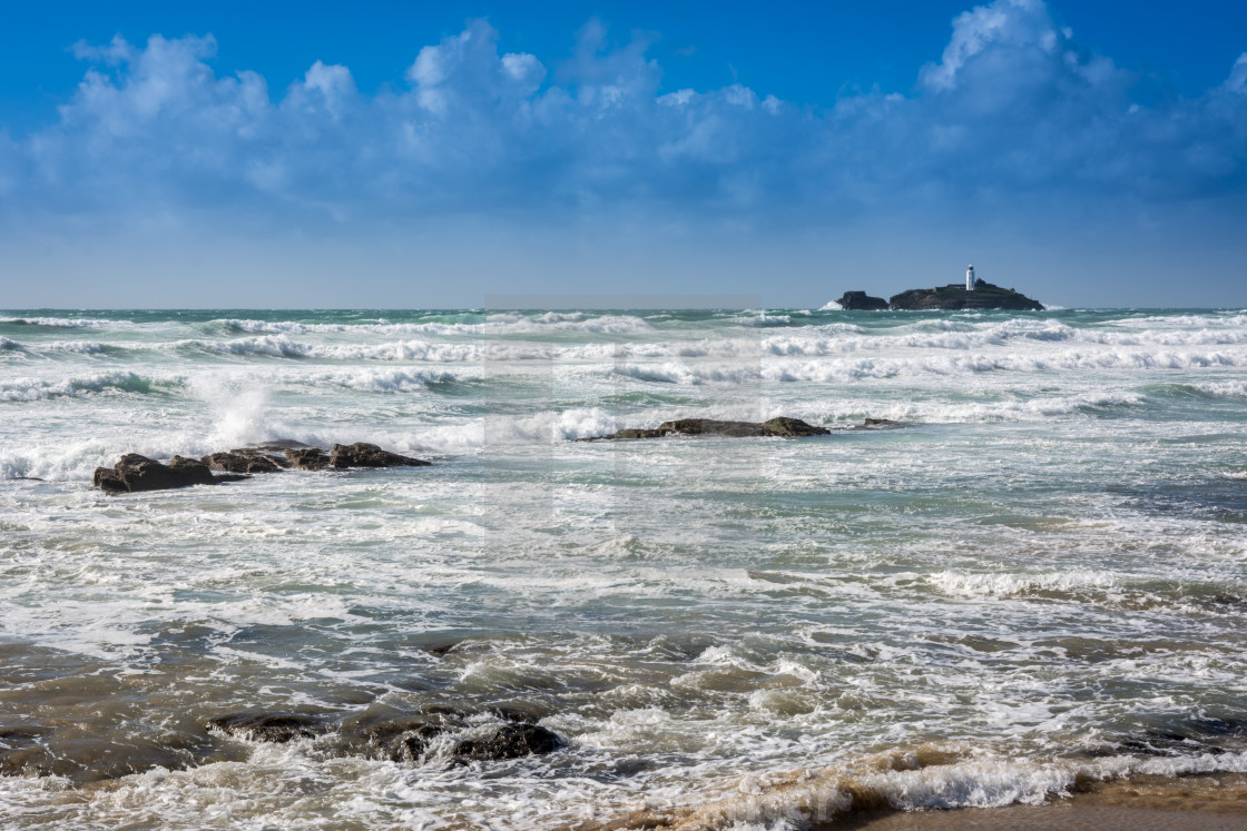 """Godrevy Lighthouse"" stock image"