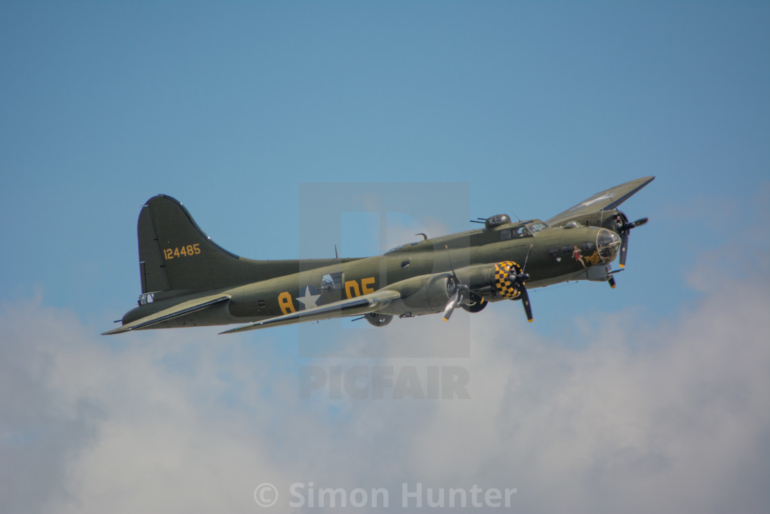 """B17 Flying Fortress"" stock image"