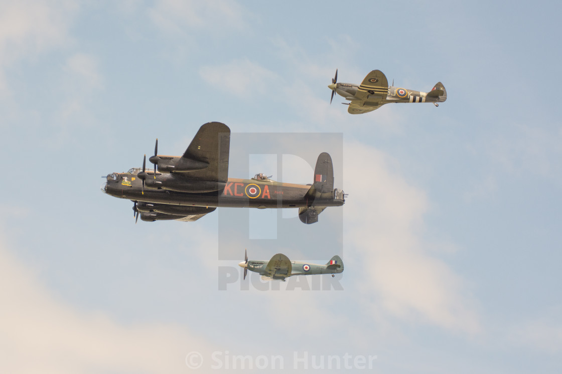 """""""The BBMF Flypast together"""" stock image"""