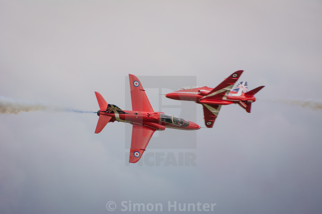 """Red Arrows Crossover"" stock image"