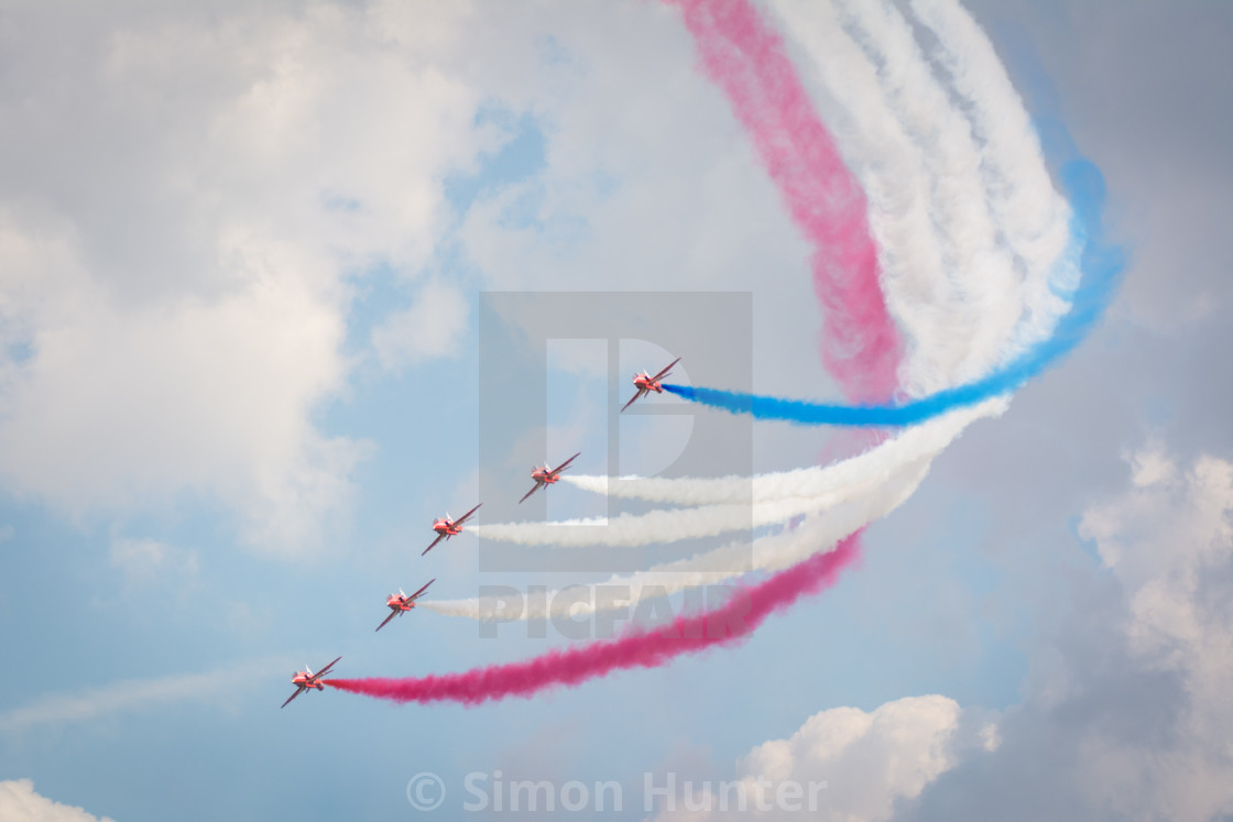 """Red Arrows in action"" stock image"