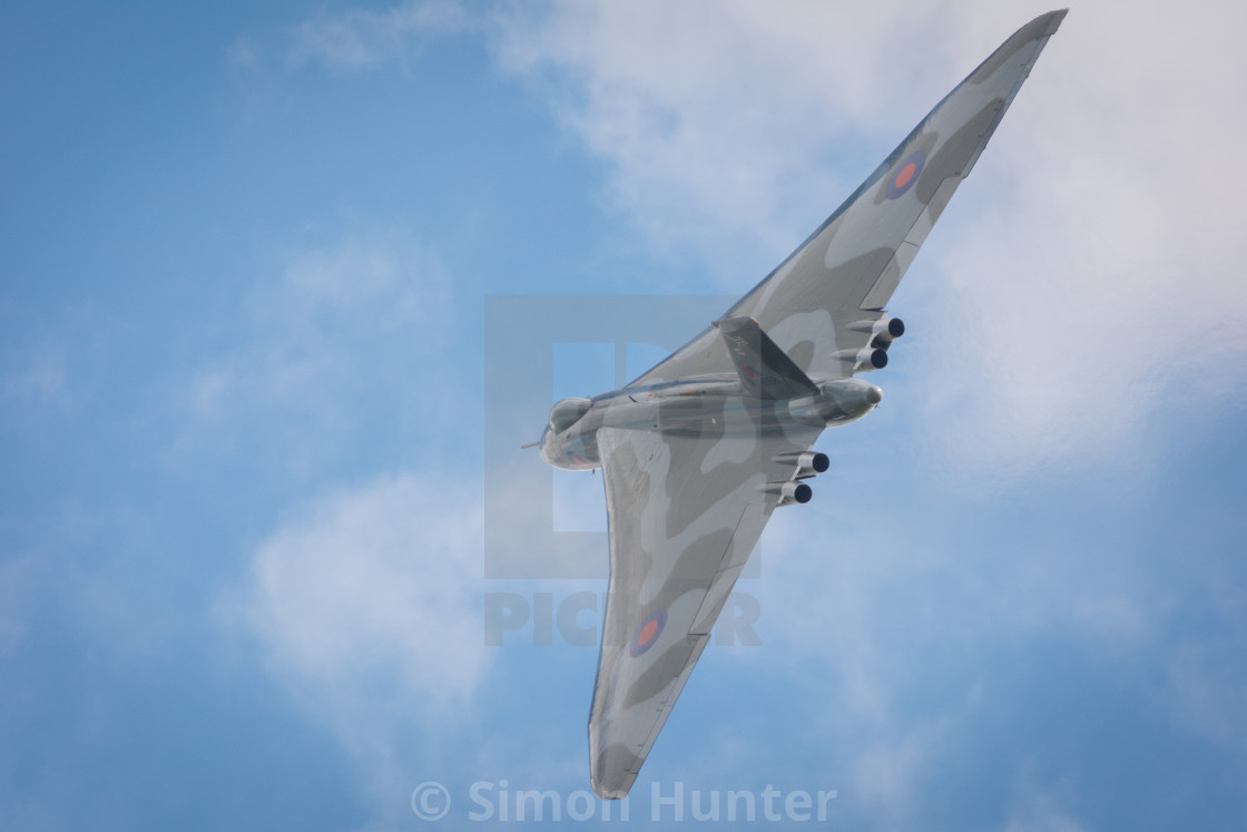 """Vulcan Bomber in action"" stock image"