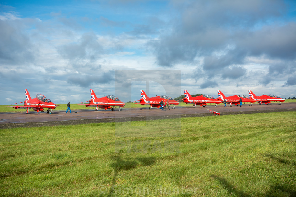 """""""Red Arrows on the ground"""" stock image"""