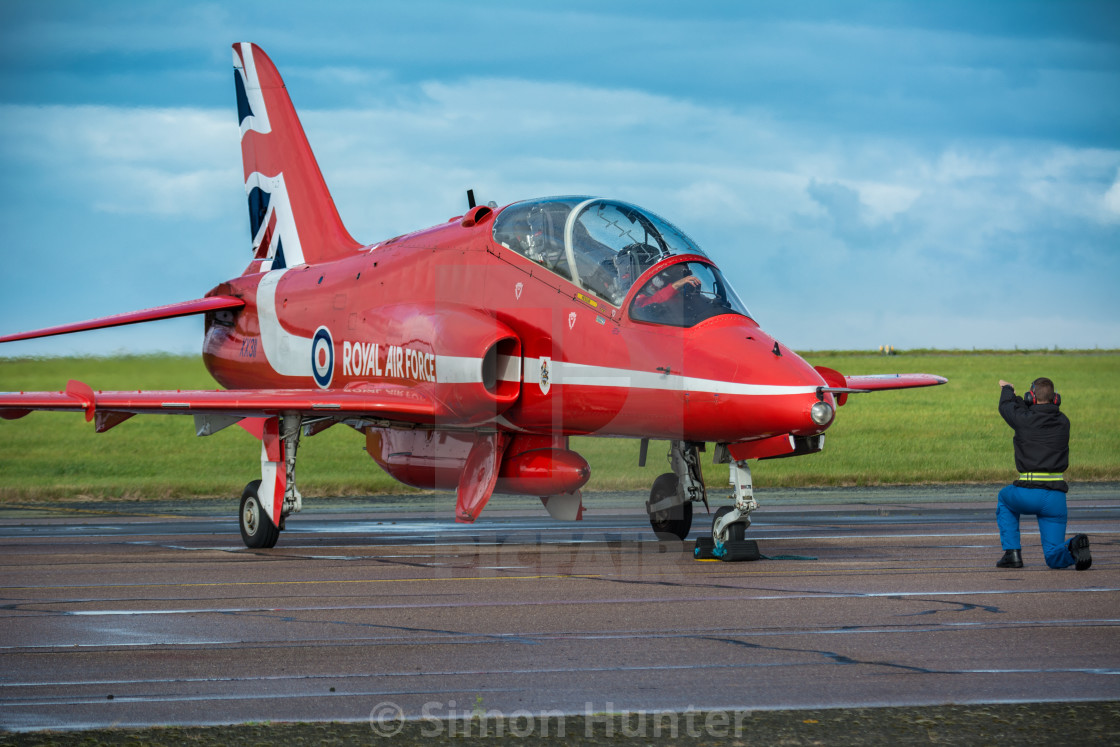 """Red Arrow being prepared"" stock image"