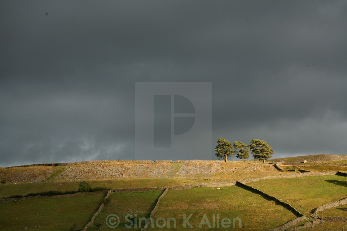 """Yorkshire Dales under Brooding Sky"" stock image"