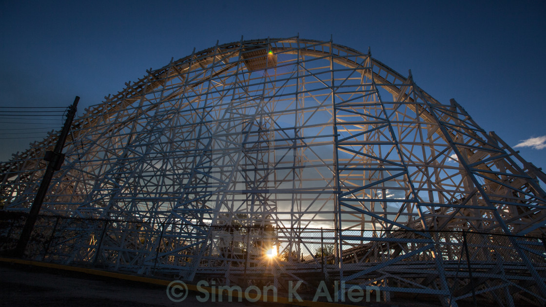 """Coaster at Sunset"" stock image"