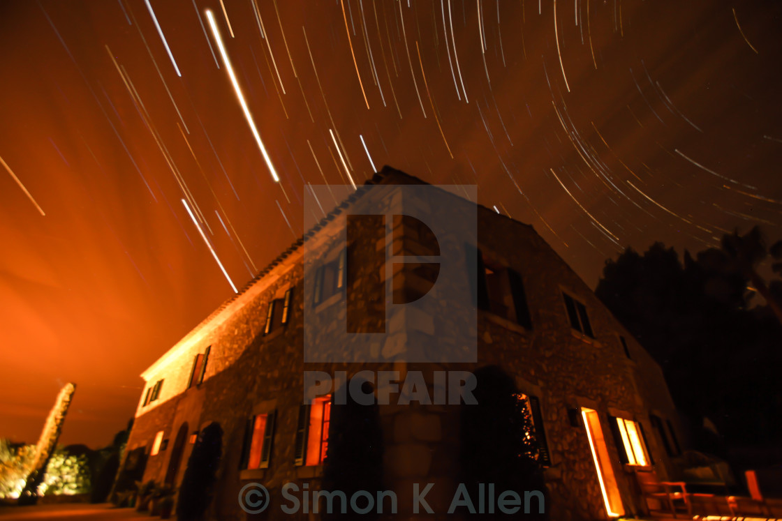 """Star Trail"" stock image"