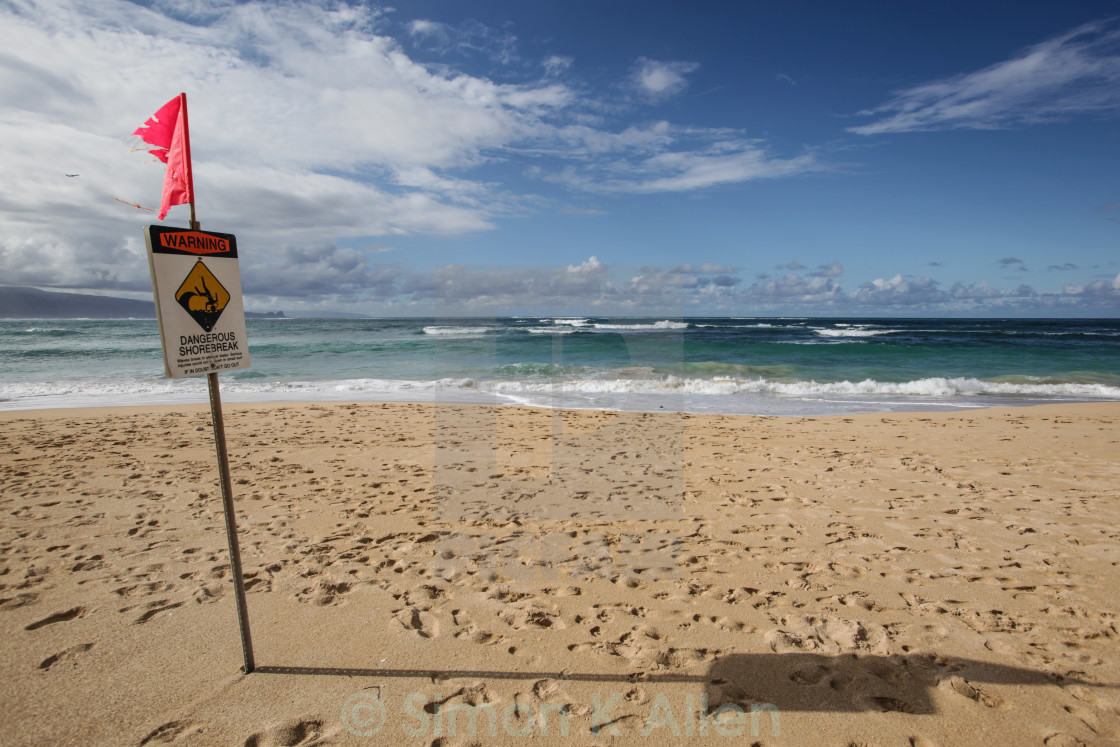 """Maui Beach Sign"" stock image"