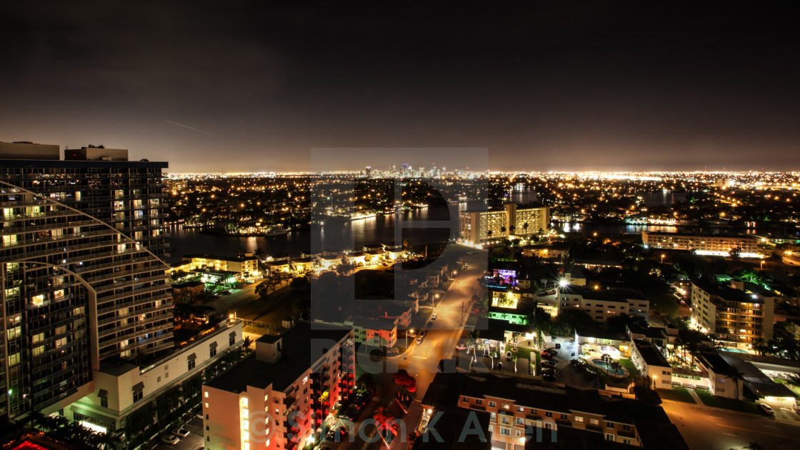 """""""Fort Lauderdale at Night"""" stock image"""