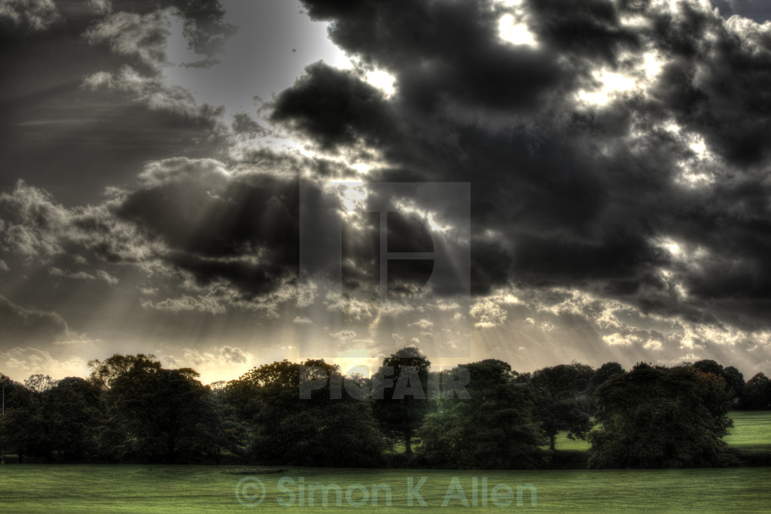 """Brooding Clouds"" stock image"