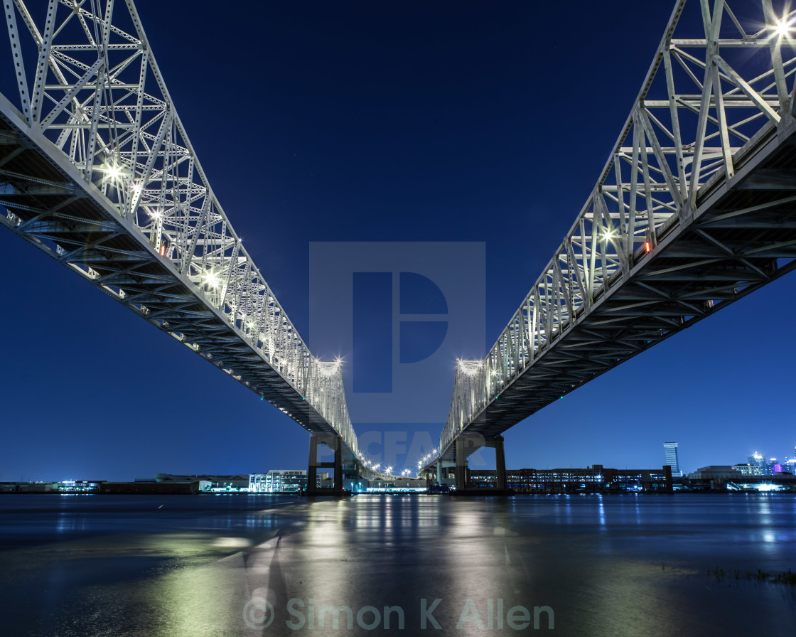 """Crescent City Connection"" stock image"