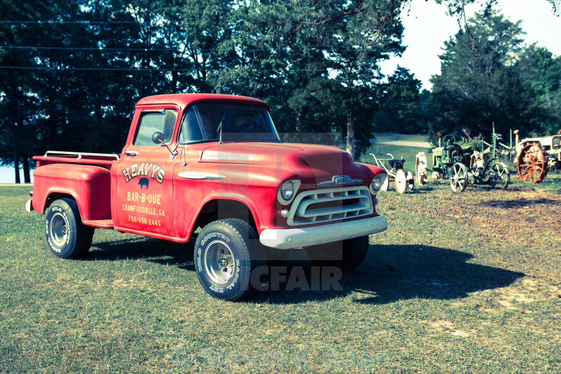 """""""1950s Red Truck"""" stock image"""