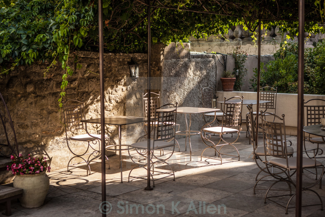 """""""Rustic French Patio"""" stock image"""