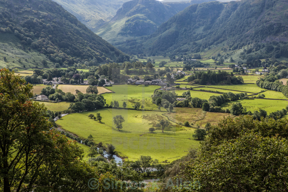 """Cumbrian Valley"" stock image"
