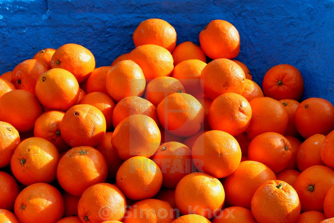 """Orange and Blue"" stock image"
