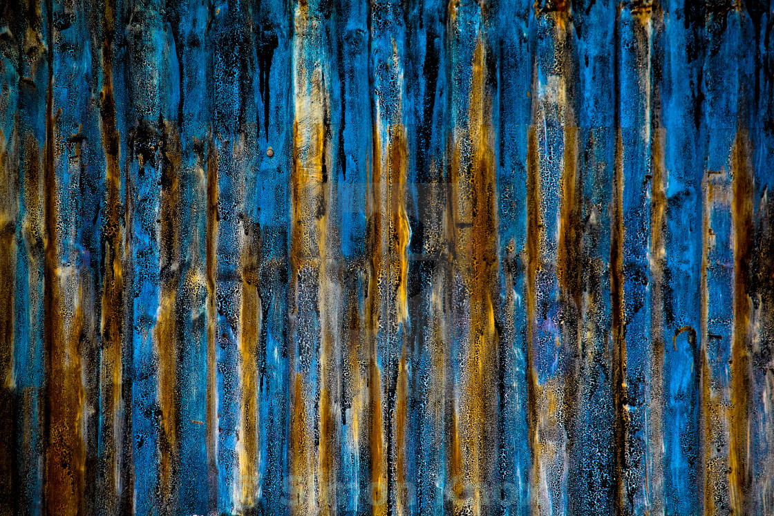 """""""Rusty Blue Textures"""" stock image"""