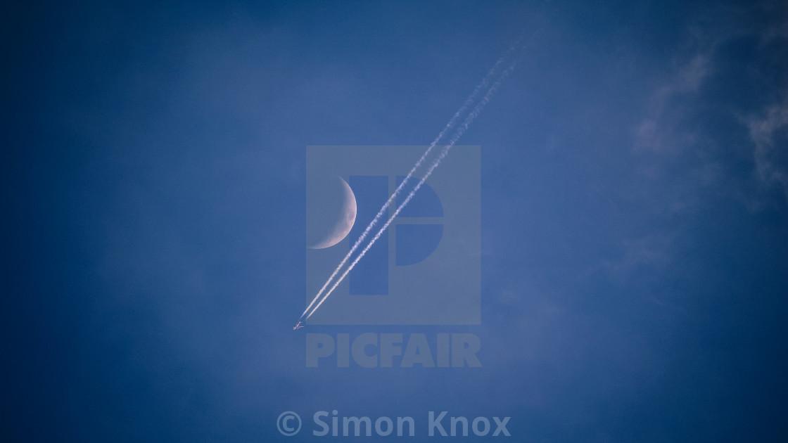 """Moon Flight"" stock image"