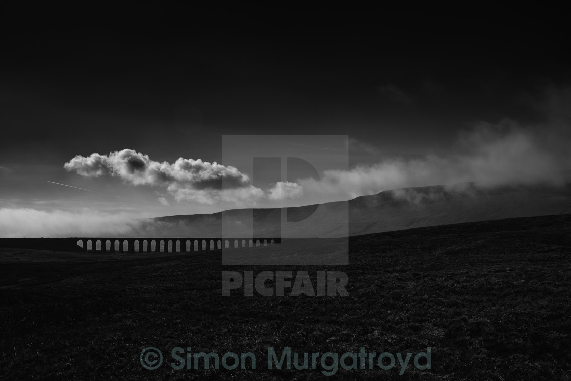 """Ribblehead Viaduct"" stock image"