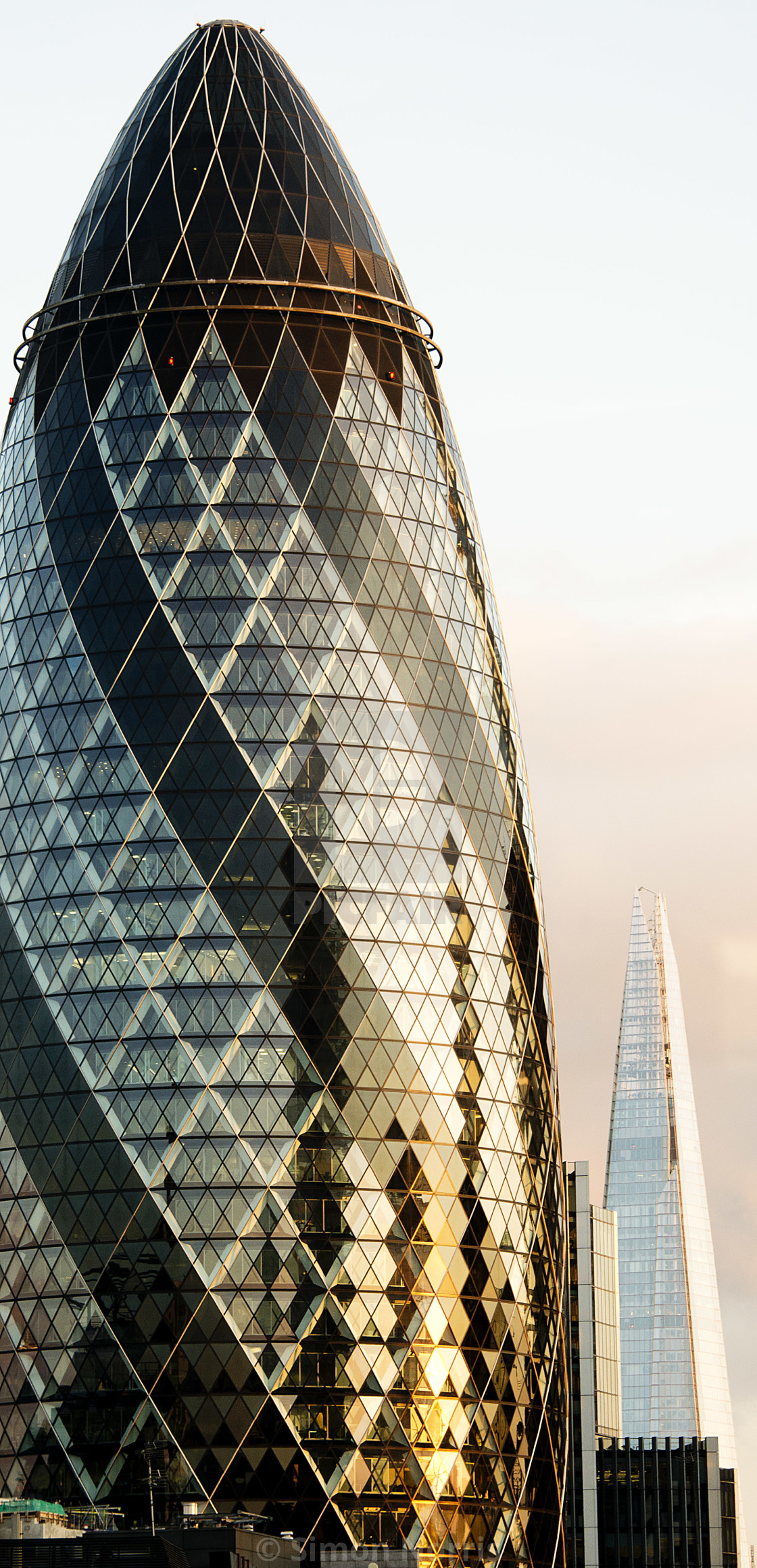"""Gherkin & Shard"" stock image"