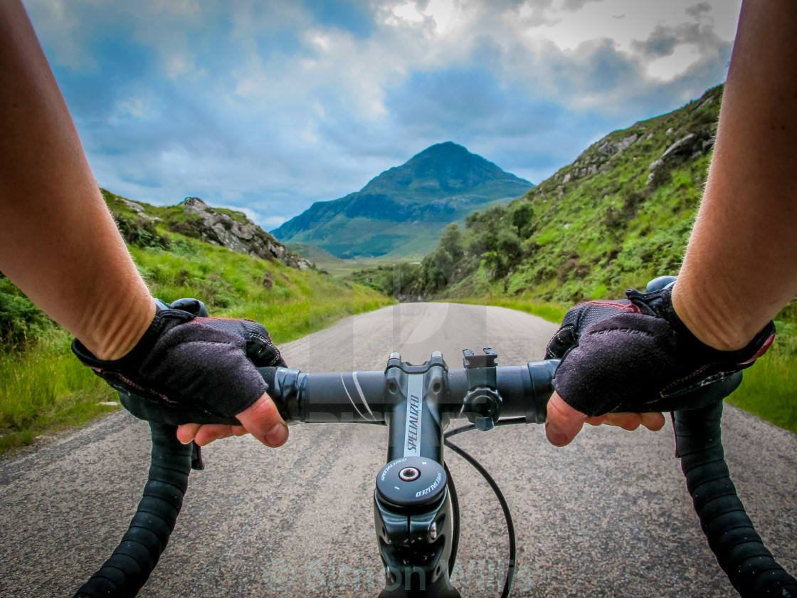 """Cycling North"" stock image"