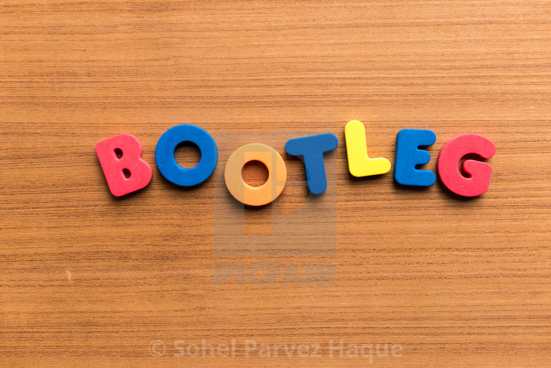 bootleg colorful word - License, download or print for £3 72