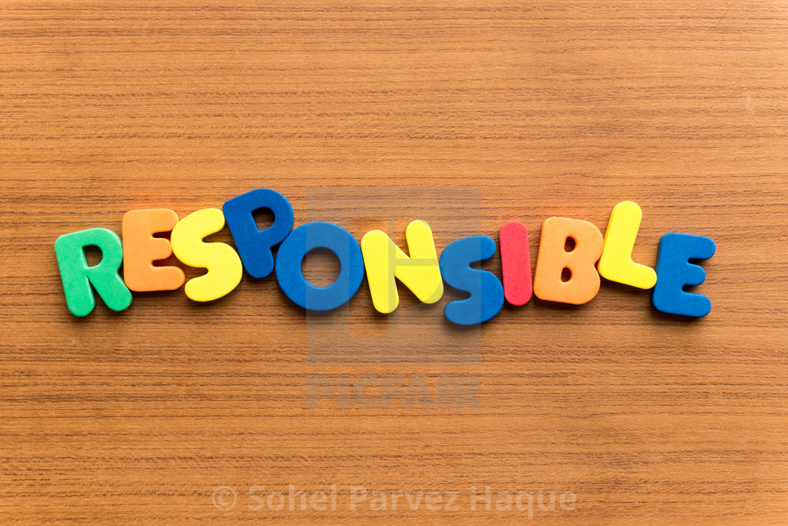 responsible colorful word - License, download or print for ...