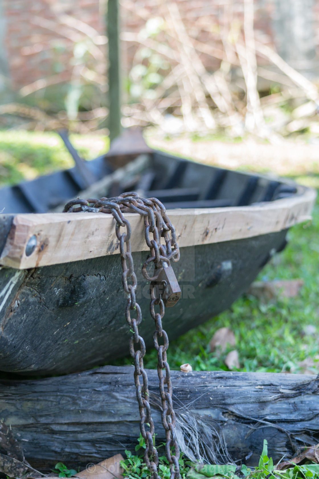 """Locked Boat"" stock image"